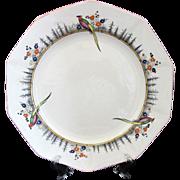 Vintage Royal Winton Grimwades Ivory Hand Painted Birds Dinner Plate
