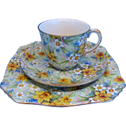 Royal Winton Richmond Chintz Trio - Cup, Saucer and Plate