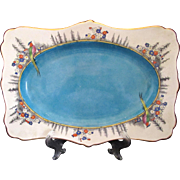 Royal Winton Rideau Ware Hand Painted Henry Birks Birds Scalloped Tray Platter