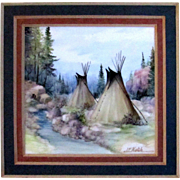 Painting Native American Indian Teepees on Porcelain by Hatch