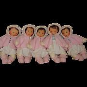 Dionne Quintuplet Dolls Set of 5 , Artist Made