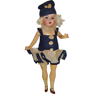 Antique German Flapper Doll