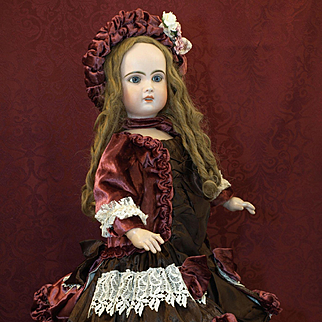 Elaborate Couture Costume for Jumeau, Bru, Steiner, German or French Doll