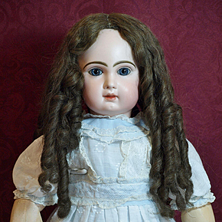 Beautiful Antique Human Hair Wig in Long Tendrils Circa 1800-1900's