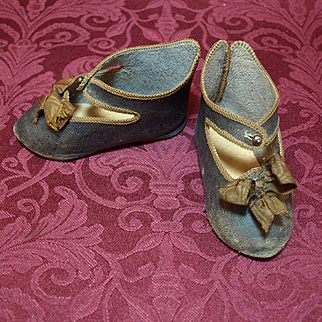 Antique Paris Depose Leather Shoes with Bee Symbol size 11 Registered Mark in 1891
