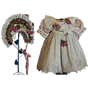 Dress for Jumeau, Bru, Steiner, French or German Doll- Exclusively Designed Couture Costume