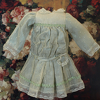 Antique Tulle Dress  for French or German Doll