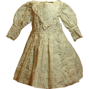Two Vintage Dresses-Unique Antique Eyelet Embroider Doll Dress and Pink with Eyelet Lace Dress- Priced at $30.00 Each!