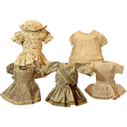 Five Small Dresses Vintage and Hand Made-Priced at $18.00 EACH!