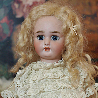 Petite Antique Simon and Halbig 1079 -Beautiful Large Blue Sleep Eyes