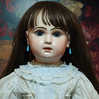 """Very Pretty Antique 24"""" French Jumeau Bebe from the 19th Century"""