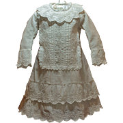 A 19th Century Classic Antique Dress with Beautiful Embroidery