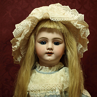 Unique Antique Doll Incised DEP  9  with Walker Mechanism