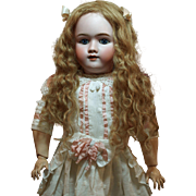 Gorgeous Antique German Heinrich Handwerck Doll with Blue Sleep Eyes-Lovely Antique Wig-Beautiful Dress- Antique Shoes ♥♥