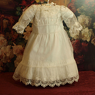 Lovely Embroidered Tulle Dress with Petticoat