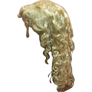 A Used Vintage Blond Mohair Wig with Five Extensions- Good Condition