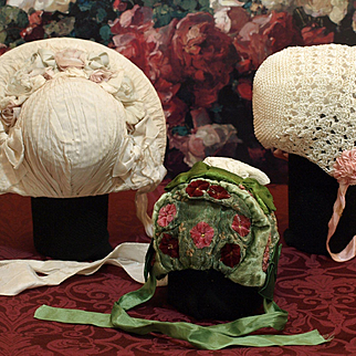 Three Vintage Bonnets @ $23.00 Each !! Good Condition