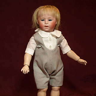 "Charming 12.5"" (31.75 cm) German Character Toddler Antique Doll for the Curio - Circa-1810-1923"