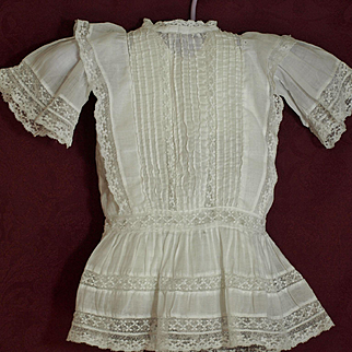 Three Antique 19th Century Doll Dresses- priced to sell @ $45.00 Each! ♥♥