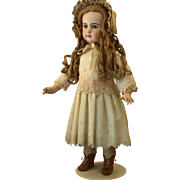Beautiful Canary Yellow Lace Accented Dress will Enhance The French or German Doll.