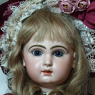 """Antique Depose Tete Jumeau Doll- 24"""" with Anatomical Detailed Chunky Body-No Hairlines, Cracks or Damage on Bisque- Stunning Costume - Discount of $311.60 with checks or money order!!! See Description.."""