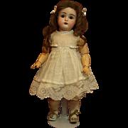 "Sweet Little 12"" Antique Kestner-Original Antique Human Hair Wig-Original Antique Garments and Shoes"