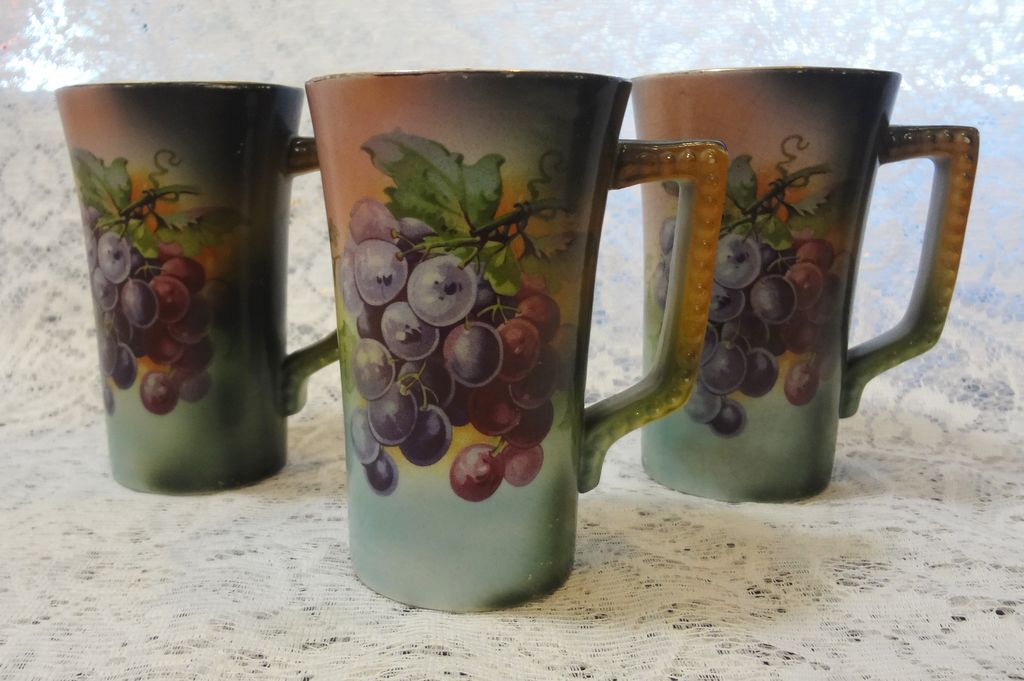 Usona Goodwin - Set of 3 Lemonade Cups- Dragon Mark - Grapes