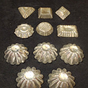"Vintage set of 11 Tart Molds - 1 1/4"" TO 1 3/4"" -"