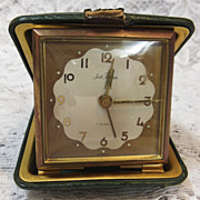 Vintage Travel Alarm Clock Seth Thomas Travel Alarm Clock Germany 7 Jewels 1950s Very Good to Excellent Working Condition