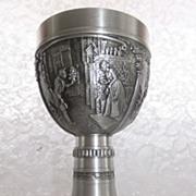 Vintage Stemmed Pewter Goblet - REIN ZINN - German