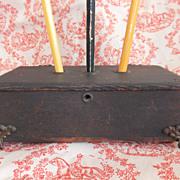 Primitive Dovetail Wooden Pencil / Pen Box - Holder
