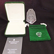 Waterford Crystal Ornament - Claddagh - Ireland with Pouch and Box