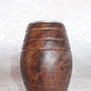 Vintage Olive Wood Pen /Pencil Holder - Ethiopia