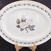 "Royal Worcester ENGADINE Oval Serving Platter 17 1/4"" by 13"""