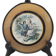 Vintage Colonial Time Victorian Style Flue Plate / Cover - Sweethearts in the Garden