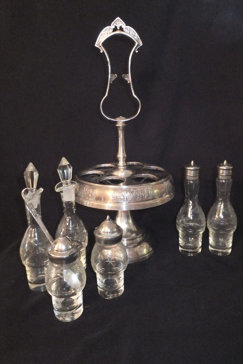 Antique Derby Silver Co Quadruple Plate Cruet Castor