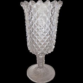Flint Glass Sawtooth Pattern CELERY / Vase - New England Glass Company – Circa: 1880's  eb#2