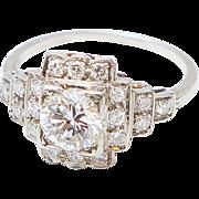 Deco 1.25 Carat Diamond Ring