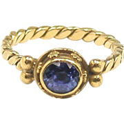 Luna Felix 18kt & Tanzanite Stacking Ring
