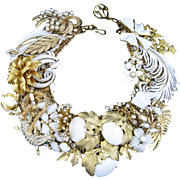 Garden Party Artisan One of a Kind Statement Necklace