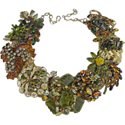 Autumn Hues Spectacular Artisan One of a Kind Statement Necklace