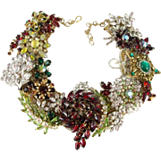 Holiday Splendor Artisan One of a Kind Statement Necklace