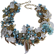 Summer Romance Artist One of a Kind Statement Necklace