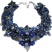 Surreal in Sapphire! Artisan One of a Kind Statement Necklace