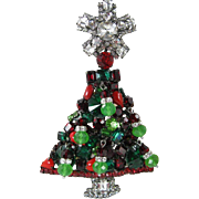 Moan's Couture Larry Vrba Protege Large Christmas Tree Pin
