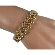 14K Gold Fancy Triple Link Bracelet/Charm Bracelet 24 GRAMS