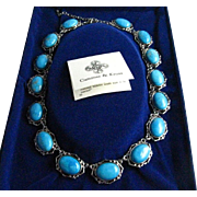 JBK Jackie Kennedy First Lady Camrose and Kross Howlite Turquoise Colored Stone Necklace