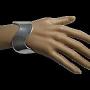 Modernist Signed .925 Espo Sig. Wide Wavy Sterling Silver Cuff Bracelet|47.6 Grams