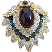 Kenneth Jay Lane Jackie Kennedy Onassis Brooch/Pendant Used on Famous Necklace Made for Jackie Onassis