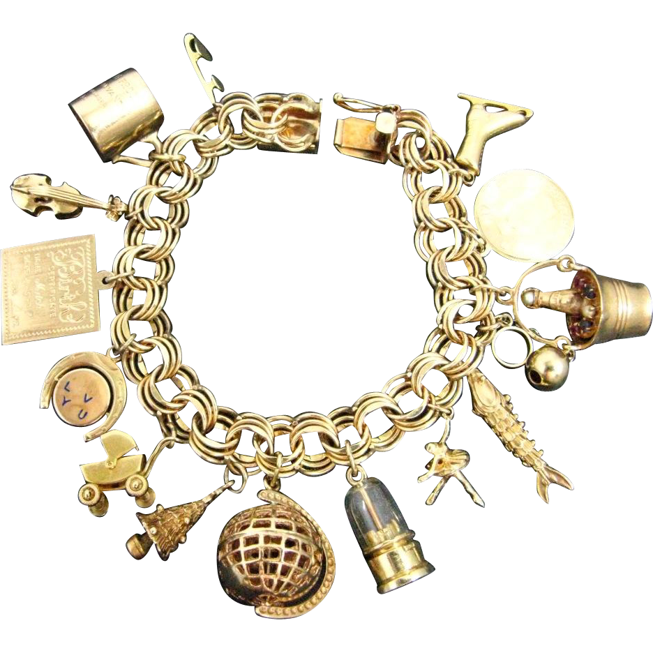Antique Gold Charm Bracelet: Tiffany & Co. Rare Antique 1913 Penn State Charm